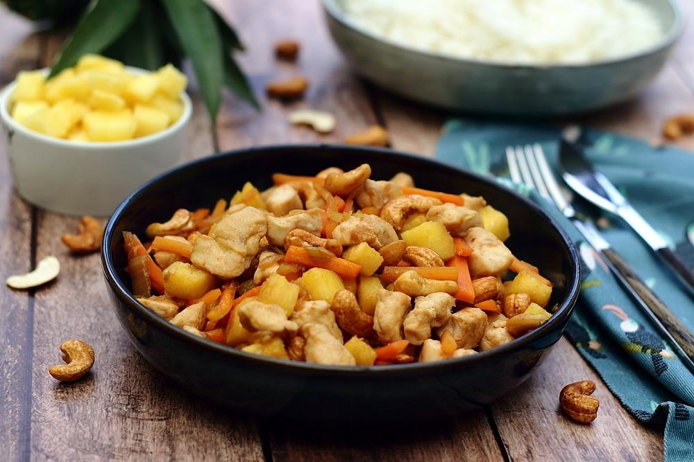 recette poulet-ananas-cajou