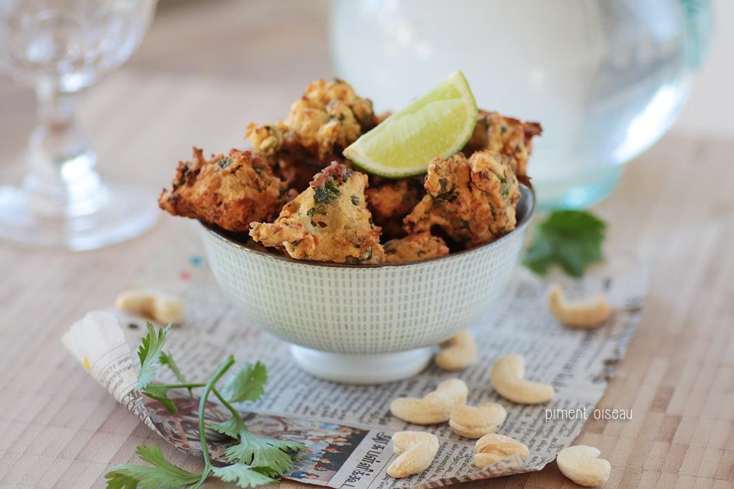 beignets de légumes aux noix de cajou nature bacoole